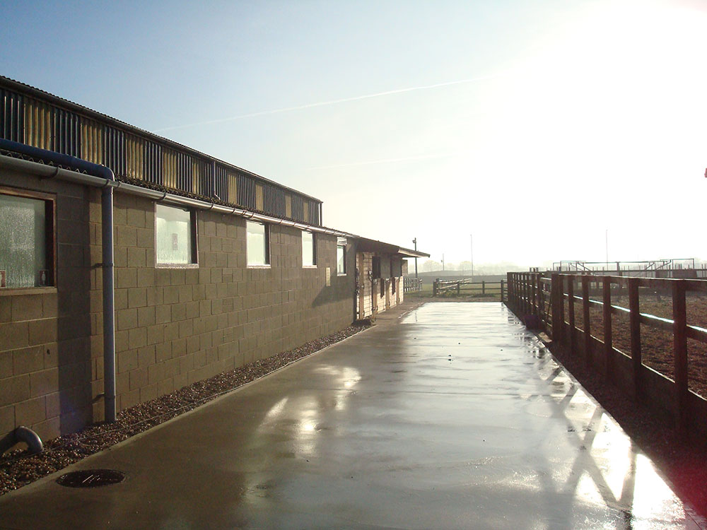 Stables and secure tack room